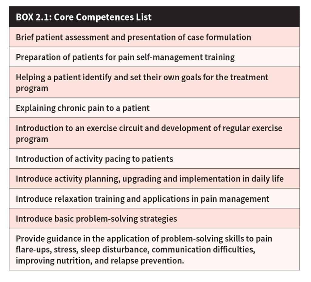 Box 2.1: Core Competences List
