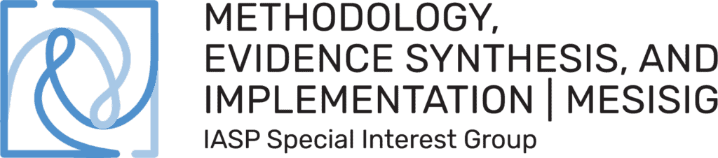 Methodology Evidence Synthesis and Implementation SIG Logo